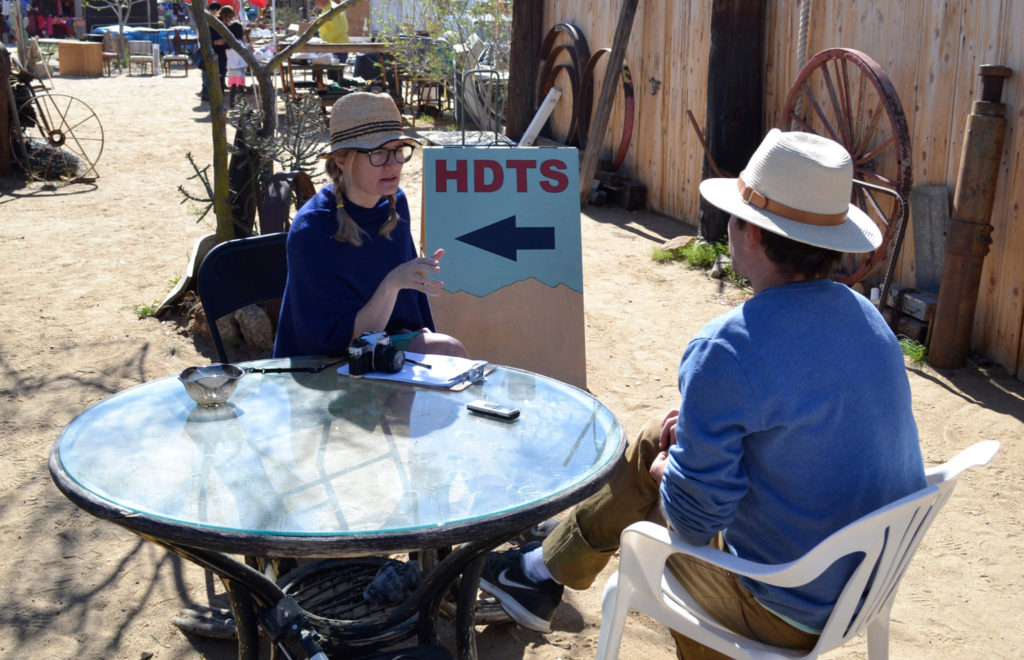 Performance of Conversations with Tom at High Desert Sites in Joshua Tree, CA. -