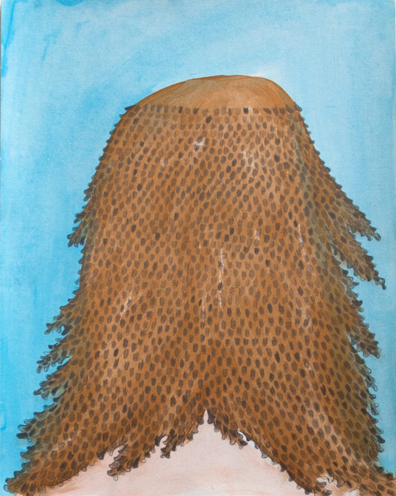 Jesus's Hair - Acrylic, Pencil and Gouache on Paper 9