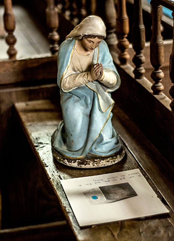 Mary Prays and Drawing -