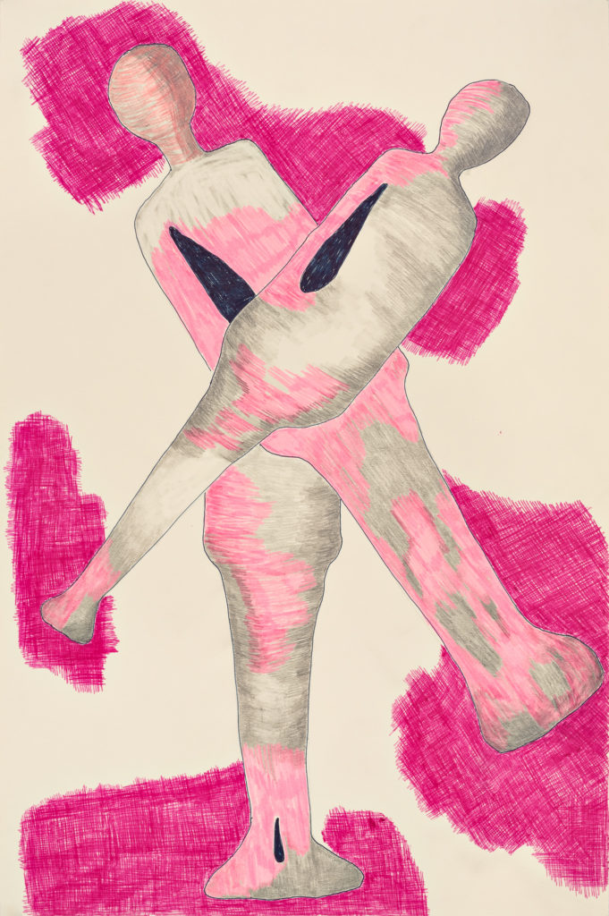 Pink Figures - Pencil and Ink on Paper 12