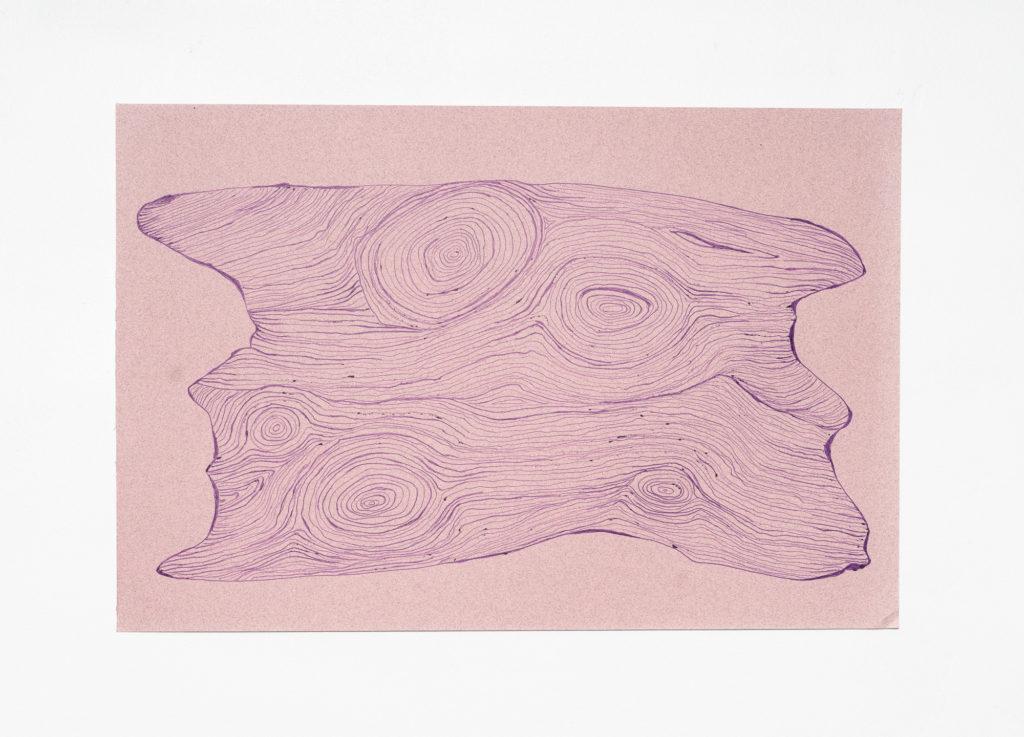 Purple Wood - Ink on Paper 11