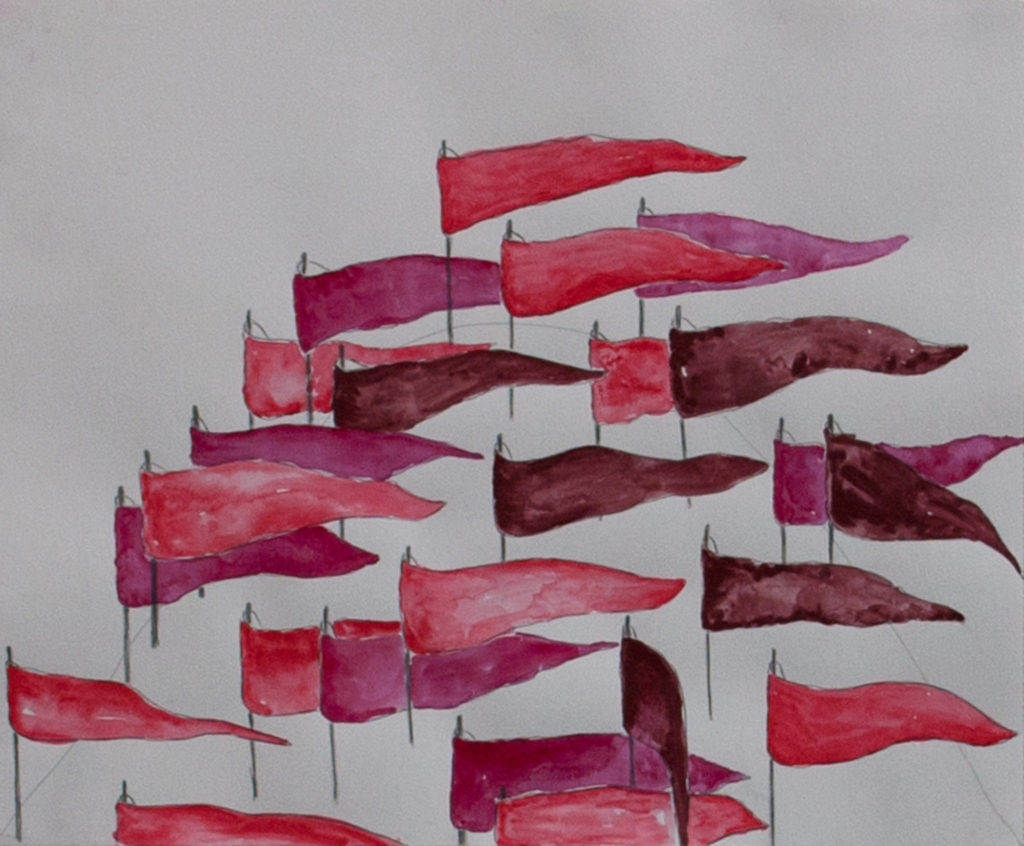 Red Flags - Gouache and pencil on paper 11