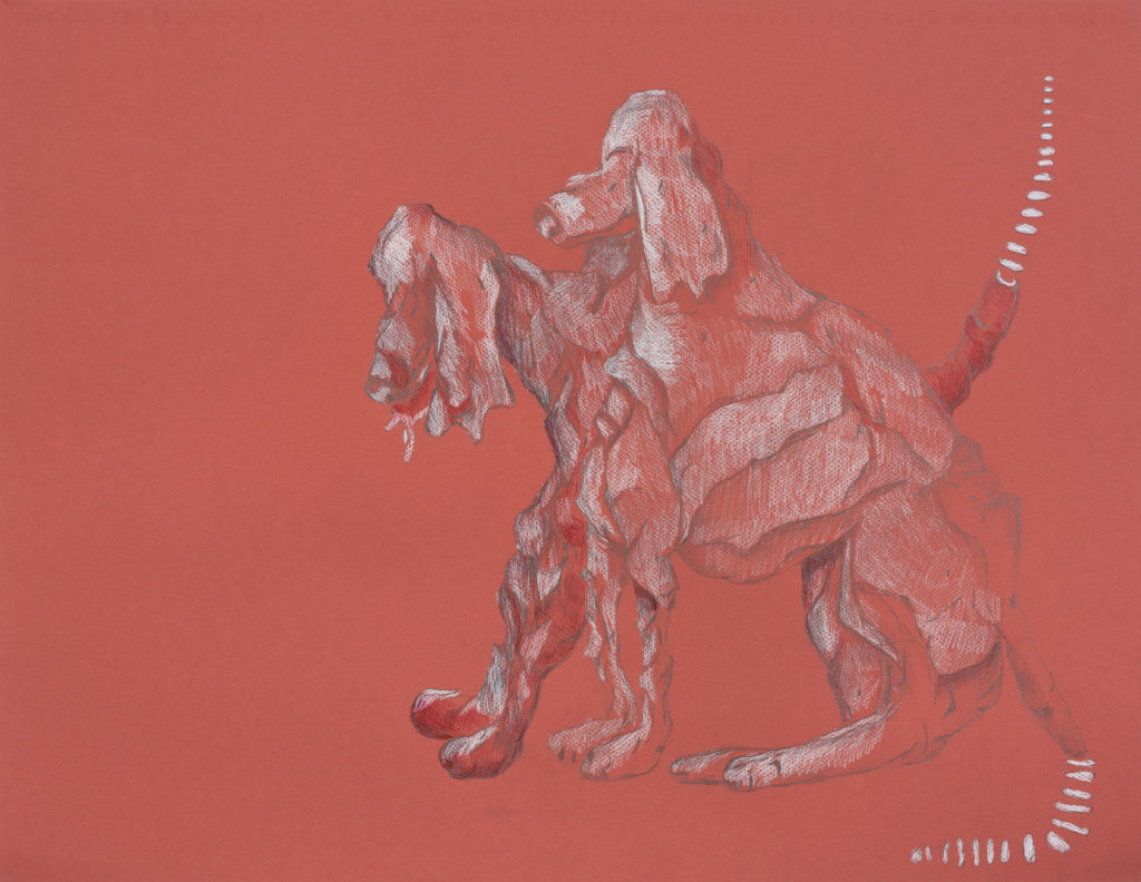 Two Dogs - Colored Pencil on Paper 24